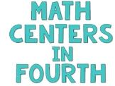 Math Center Rotations for Fourth Grade
