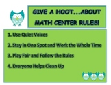 Math Center Rules