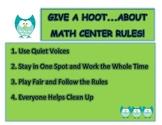 Math Center Rules