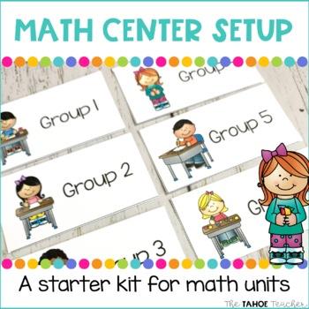 Math Center Setup