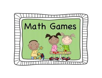 Math Center Signs