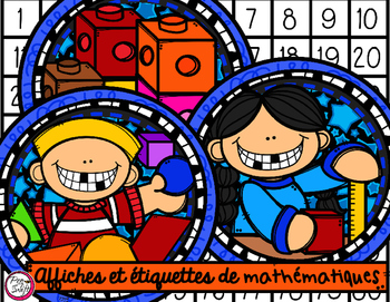 Math Center Signs & Labels in French