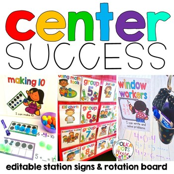 Math Center Signs and Board