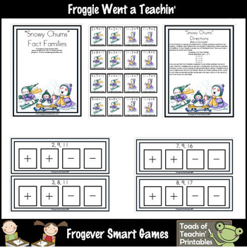 Fact Families--Snowy Chums Addition/Subtraction