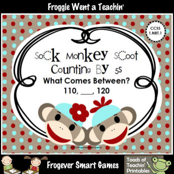 """Skip Counting By Fives -- """"Sock Monkeys"""" (what comes between) Scoot"""