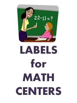 Math Center / Station Labels