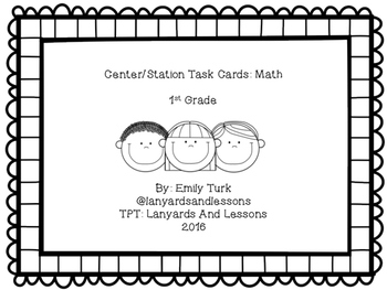 Math Center/Station Task Cards