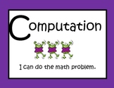 Math Center Strategies Headers