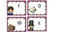 Math Center Subtraction from10, 11, and 12 Matching Cards, Presidents Day Theme