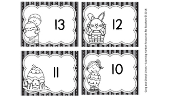 Math Center Subtraction from13, 14, and 15 Matching Cards, Easter
