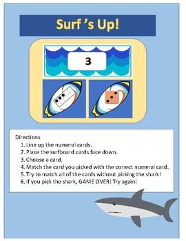 Math Center - Surf's Up! K-2