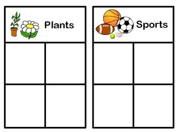 Math Center / Task Box: Sorting Activity