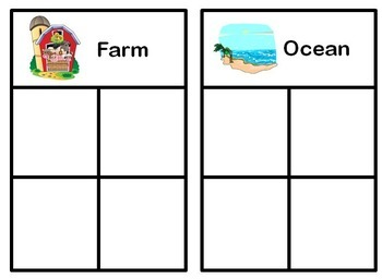 Sorting Activity/ Task Box for Special Education
