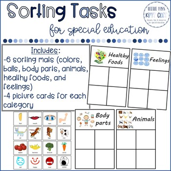 Math Center / Task Box Sorting Pictures