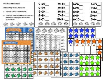 Math Center Teen Number Ten Frame Activity