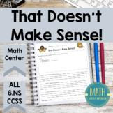 6th Grade Multiple Choice Eliminator for Math That Doesn't Make Sense 6NS
