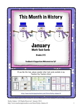 Math Word Problems January Grades 3-4
