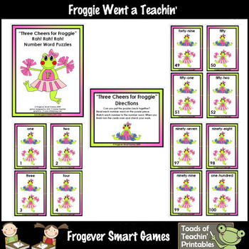 Math Center -- Three Cheers for Froggie (number words)