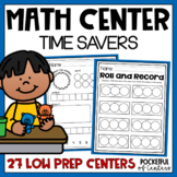 Math Centers Time Savers