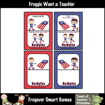 Time--USA Beanbag Toss I Have... Who Has? 5 Minute Intervals Set 3