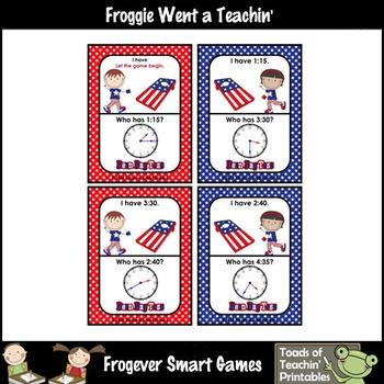Time--USA Beanbag Toss I Have... Who Has? 5 Minute Intervals Set 4