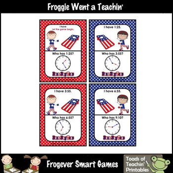 Time--USA Beanbag Toss I Have... Who Has? 5 Minute Intervals Set 6
