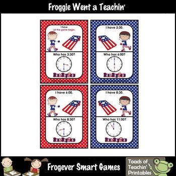 "Time--""USA Beanbag"" Toss I Have... Who Has? (O'Clock/Half Past Version)"
