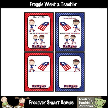 Time--USA Beanbag Toss I Have... Who Has? (Quarter Past Version)