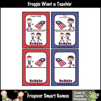 Time--USA Beanbag Toss I Have... Who Has? Quarter Till Version