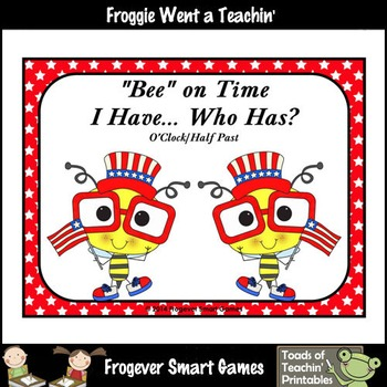 """Time--USA """"Bee"""" on Time I Have... Who Has? (O'Clock/Half Past Version)"""
