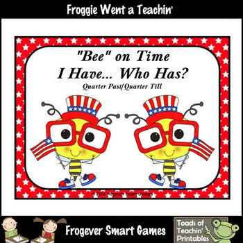 """Time--USA """"Bee"""" on Time I Have... Who Has?(Quarter Past/Qu"""