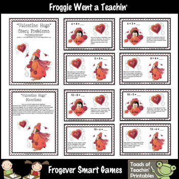 """Addition & Subtraction Story Problems """"Valentine Hugs"""""""