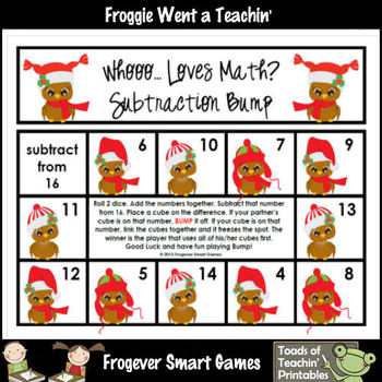 Subtraction--Whooo... Loves Math? Subtraction Bump Game