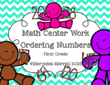 Math Center Work  Ordering Numbers First Grade