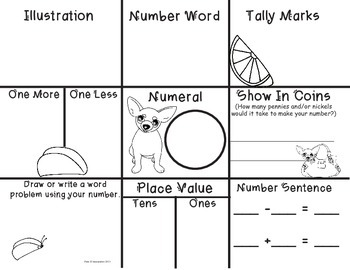 Math Center Worksheet Kindergarten Common Core Aligned NBT Practice