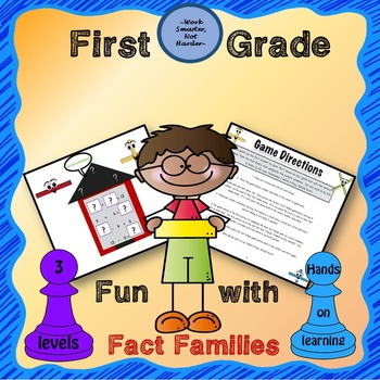 Fact Family Game Differentiated