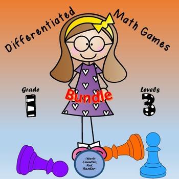 Math Games Differentiated MEGA Bundle