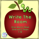 Math Center: Write The Room Apple Slices One More Than One Less Than 1-12