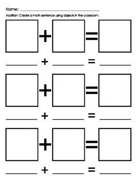 Math Center addition/add sentence