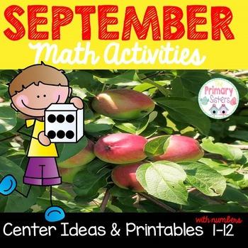 Math Centers for September