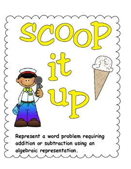 Math Center for Word Problems Scoop It Up