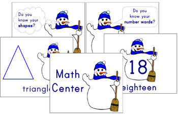 Math Center materials - Snowman themed (Kindergarten - 1st Grade)