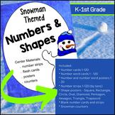 Math Center materials - Snowman themed (Kindergarten - 1st Grade)
