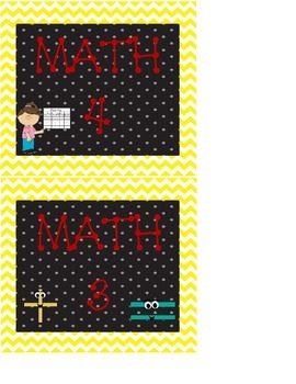Math Center or Station Signs