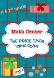 """Math Center: """"the price tags"""" using coins -1st & 2nd grade - Christmas presents"""