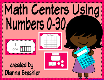 Math Center using Numbers 0-30 Activities in Ten-Frames, Tally Marks, and Words