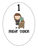 Math Center/Station Rotation Signs