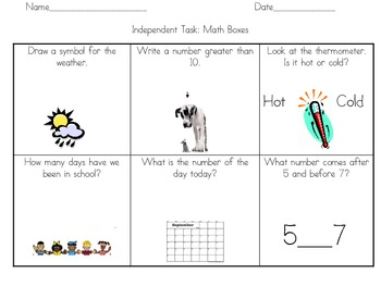 Math Center/Task Sheet 3