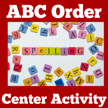 ABC Order Center | ABC Order Picture Puzzle | ABC Order to Second Letter