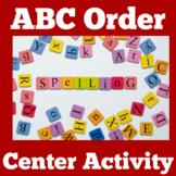 ABC Order Worksheet Center